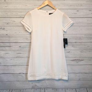 Lulu's White Short Sleeve Shift Dress XS NWT